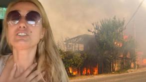 Manavgat'ta çi̇ftli̇ği̇ yanan ünlü model felç geçi̇rdi̇