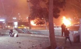 Ankara'da patlama anı kameralarda!