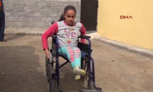 Zehra'nın tek isteği akülü tekerlekli sandalye