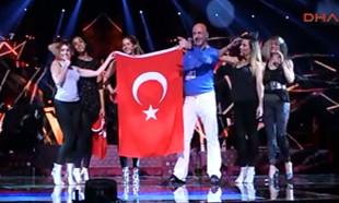 Eurovision'da Türk Bayrağı