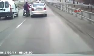 Trafikte cinayete teşebbüs!