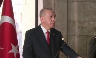 Cumhurbaşkanı Erdoğan'ın Anıtkabir'den verdiği mesaj