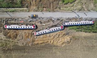 25 Kişinin can verdiği tren kazasının yeni görüntüleri ortaya çıktı