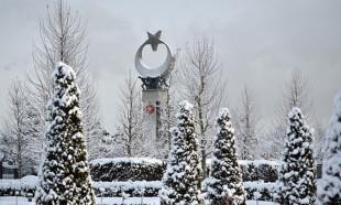 Cumhurbaşkanlığı Külliyesi'nde kış