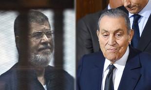 Mursi ve Mübarek ilk kez mahkemede yüzleşti