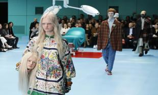 Milano moda haftasındaki defile bu neyin kafası dedirtti !