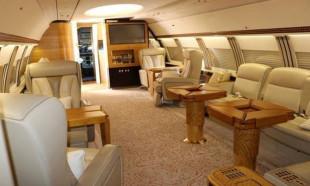 Altın kaplamalı uçak Türkiye'de