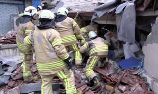 Kartal'daki çöken binadan ilk görüntüler...