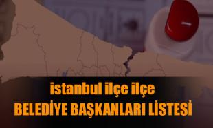İstanbul'un ilçe ilçe belediye başkanları listesi