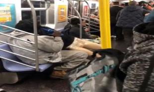 Metroda cansız mankenle kavga!