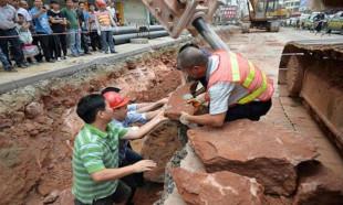 Çinli işçiler tesadüfen buldu! İnanılmaz!