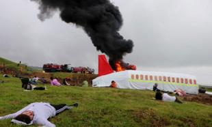 Trabzon'da uçak kazası tatbikatı gerçeğini aratmadı