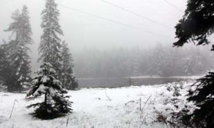 Bolu'da mayısın ortasında kar yağdı