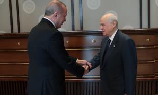 Beştepe'de Erdoğan Bahçeli ile görüştü