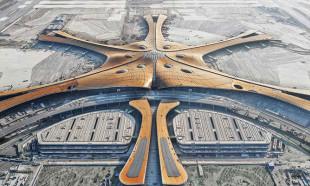 Çin'in 16.8 milyar dolarlık havalimanına uçuşlar başladı