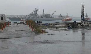 Rus savaş gemisi Kabataş açıklarında sürüklendi
