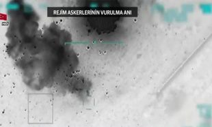 İdlib'den yeni görüntü! TSK Esad rejim hedeflerini böyle vurdu.