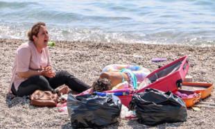 Sahilde 'Ölmek istemiyorum' diye ağlayan kadın, korona virüslü çıktı