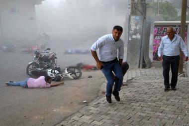 Teröristlerden Nusaybin'e havanlı saldırı: Çok sayıda kişi yaralandı