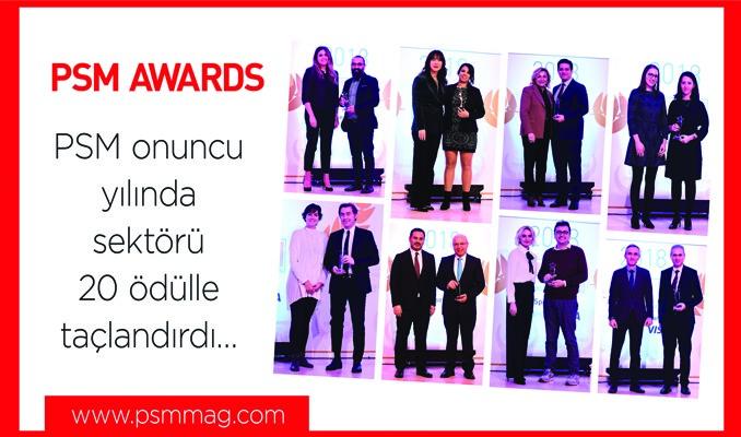 PSM onuncu yılında sektörü 20 ödülle taçlandırdı