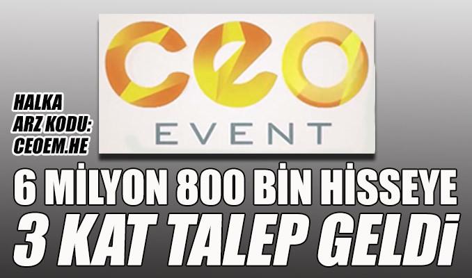 CEO Event'in halka arzına yoğun talep