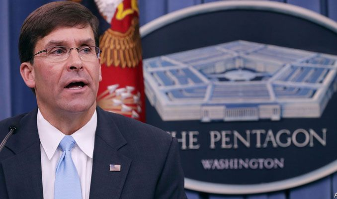 Pentagon'un yeni patronu Mark Esper oldu