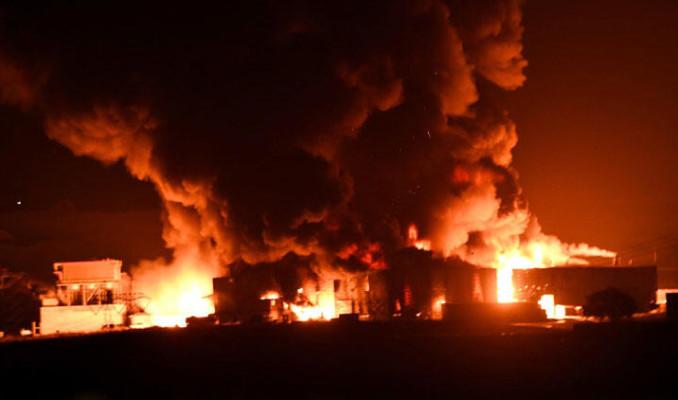 Çorlu'da geri dönüşüm fabrikasında yangın