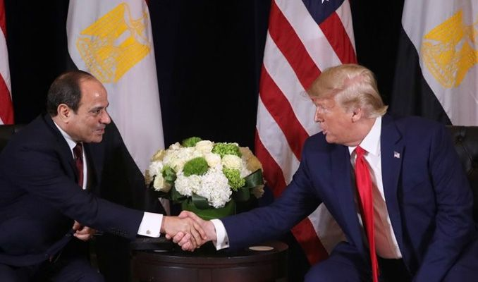 Trump'tan Sisi'ye: Obama'ya karşı bile gösteri oldu