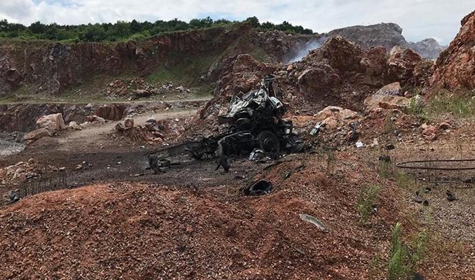 Sakarya'daki patlama alanından görüntüler