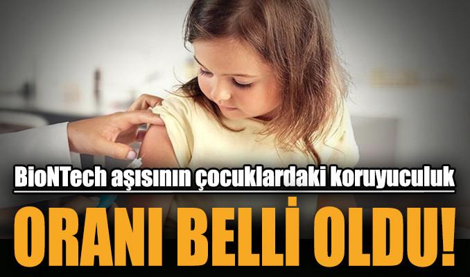 BioNTech aşısının çocuklardaki etkinlik oranı belli oldu!