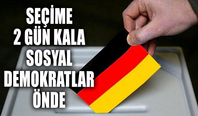 Almanya'da seçime 2 gün kala sosyal demokratlar önde