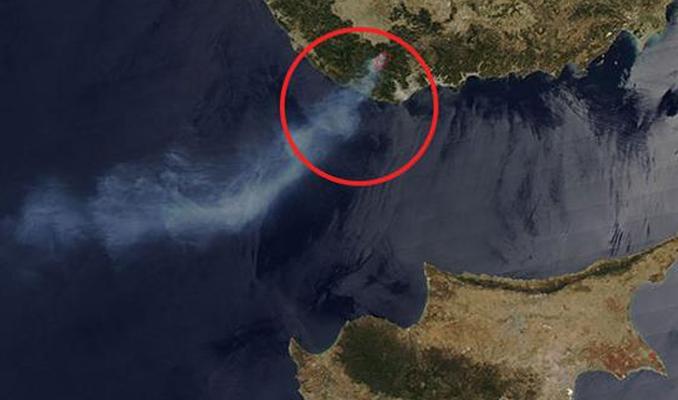 NASA Türkiye'deki yangını fotoğrafladı