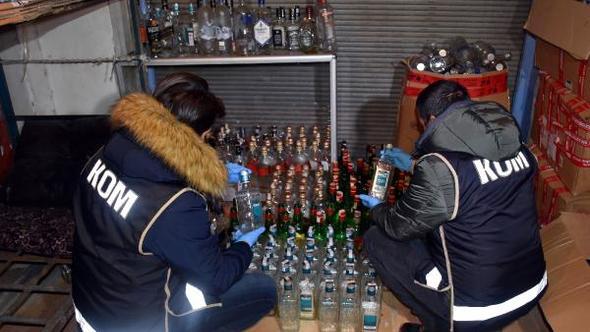 Fatih'te sahte içki operasyonu