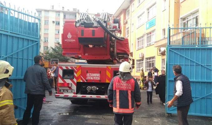 Bahçelievler'de okulda yangın çıktı
