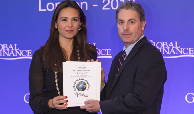 Garanti Bankası 6 önemli kategoride ödül aldı