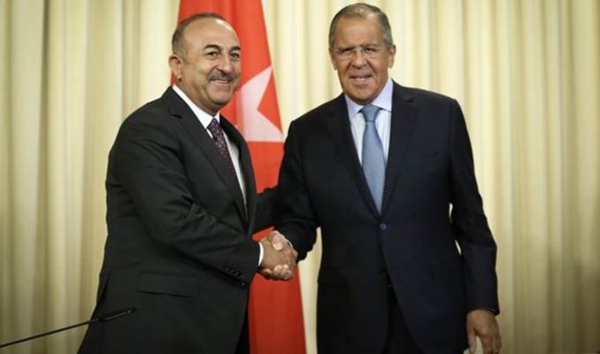 Çavuşoğlu Rus mevkidaşı Lavrov ile görüştü