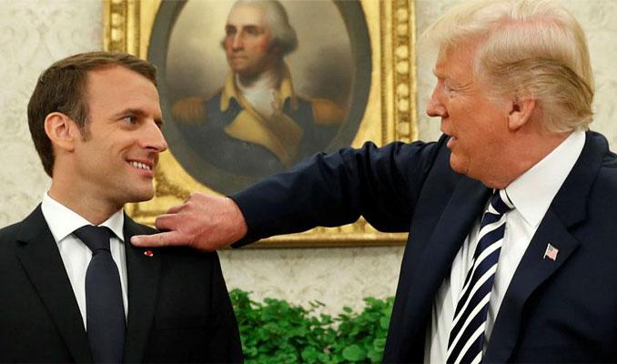 Trump, Macron'un kararından kendine pay çıkardı