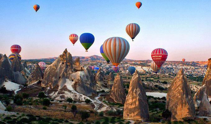 Kapadokya balon turisti yüzde 63 arttı