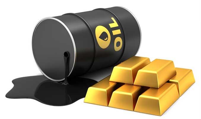 Petrol geriledi, altın fiyatları yatay seyirde