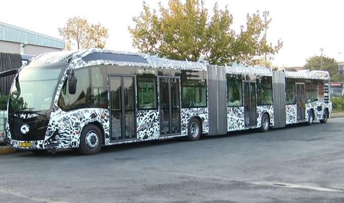 İstanbul'un yeni metrobüsü test ediliyor