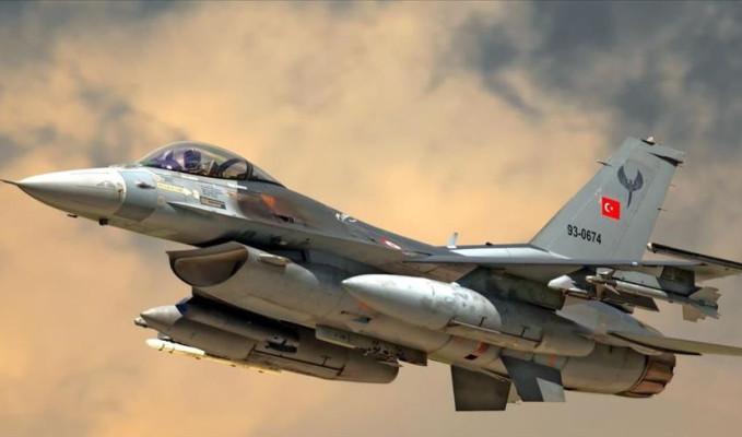 F-16'lar 30 kilometre derinlikteki hedefleri vurdu