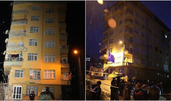 Rize'de yıkılma tehlikesi olan 8 kaltı bina tahliye edildi