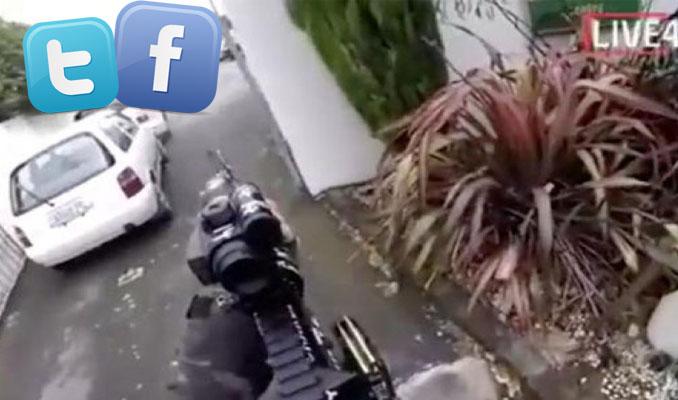 Teröristler canlı yayın yaptı sosyal medya şirketleri uyudu