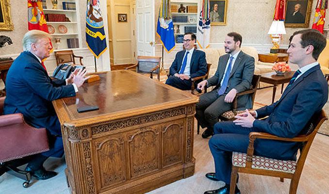 Bakan Albayrak Beyaz Saray'da Trump ile görüştü