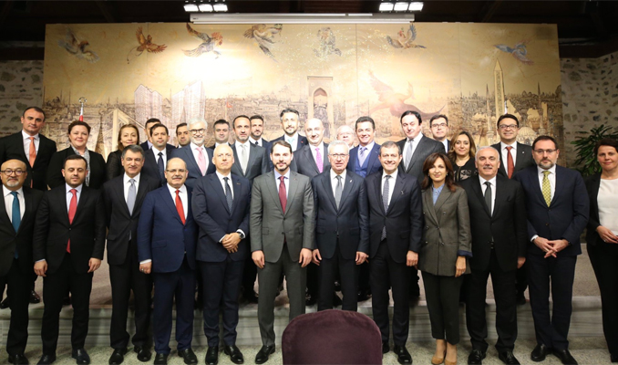 Albayrak bankacılık sektörü temsilcileriyle buluştu