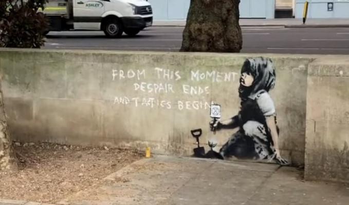 Banksy çevre eyleminde