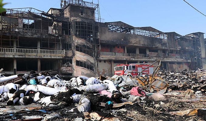 Fabrika yangınında zarar 60 milyon