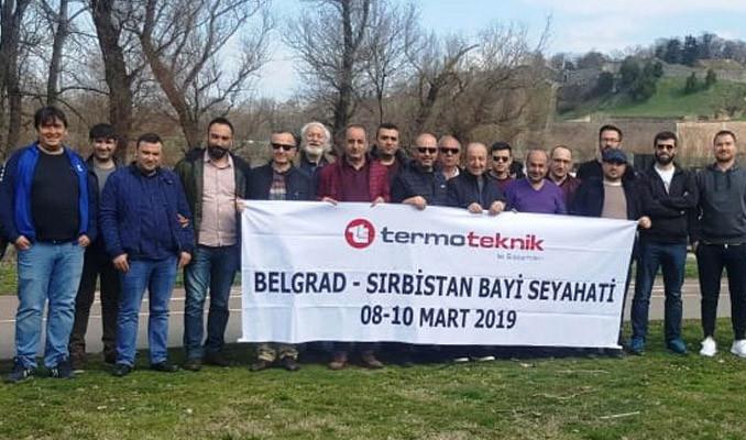 Termo Teknik bayileri Belgrad'ı gezdi
