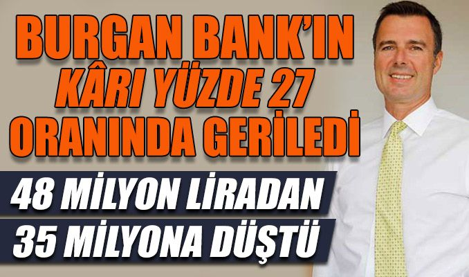 Burgan Bank'ın kârı 48 milyon liradan 35 milyona düştü