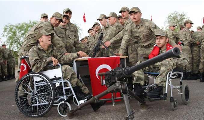Engellilerin bir günlük askerlik sevinci